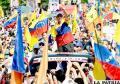 Oposición desborda de forma pacífica Caracas en apoyo de su líder Henrique Capriles /laprensalatina.com