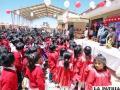Niños se benefician con biblioteca, aulas y mobiliario en zona Huajara