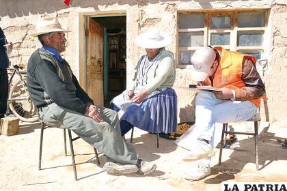 El Censo Agropecuario en Oruro sólo avanzó el 35 %