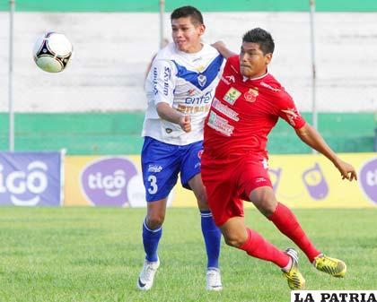 Luis Torrico en el partido que jugaron el domingo en Montero