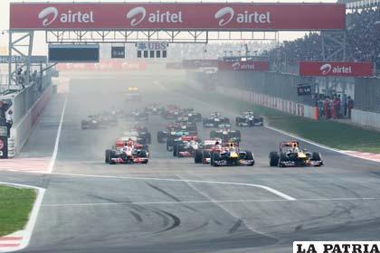Una vista panorámica del circuito en la India