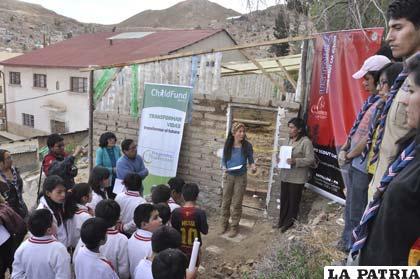 Inauguración del vivero forestal en el Centro Mariano
