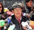 Rafael Quispe y la dirigencia de Tipnis, instalaron una vigilia en las puertas de la Fiscalía General