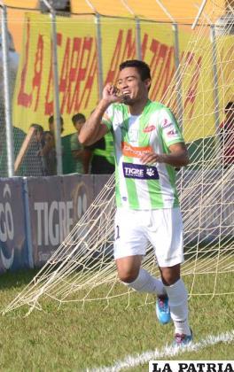 Peña marcó el único gol del partido