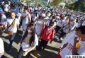 Buena cantidad de participantes en la caminata