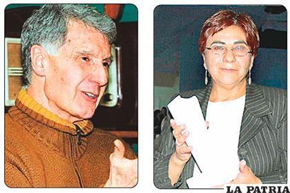Los periodistas Eduardo Pérez y Amalia Pando /CORREODELSUR.COM