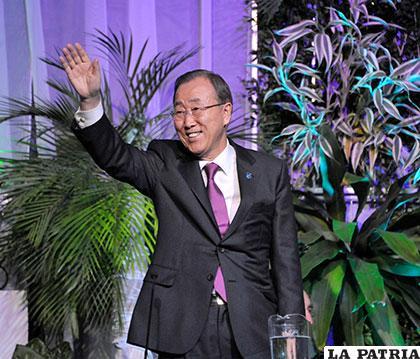El secretario general de la ONU, Ban Ki-moon /ABI