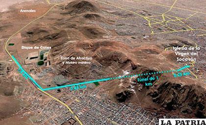Proyecto de nueva ruta para el Carnaval de Oruro