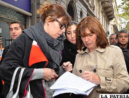 Las diputadas opositoras, Patricia Bullrich y Laura Alonso /lanueva.com