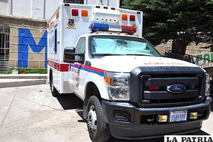Ambulancias del Sedes con placa cochabambina