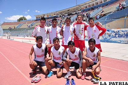 Atletas de Oruro y Challapata que asistirán a la fase final