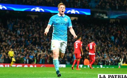 Kevin De Bruyne anotó el gol del triunfo para Manchester City ante Sevilla (2-1) /prensa.com