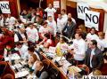 En el parlamento, campaña por el