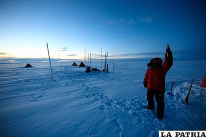 El desierto antártico tiene una superficie de 13.829.430 kilómetros cuadrados