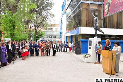 Membresía de la ACF en el acto en conmemoración al Día de la Mujer Boliviana