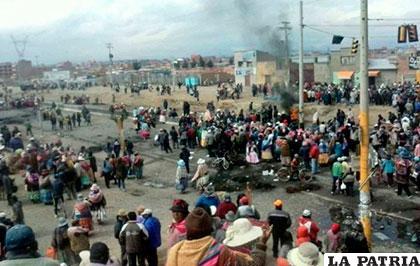 Se agrava el conflicto en el Distrito 8 de El Alto /@rcbolivia
