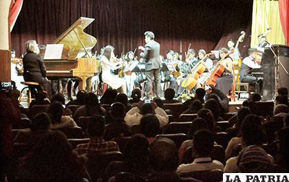 Concierto de la Filarmónica sorprendió a Oruro