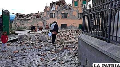 Imágenes de los daños que dejo el seísmo del 24 de agosto