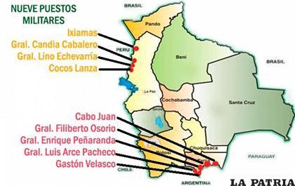 Imagen ilustrativa sobre dónde debían construirse los puestos militares /ANF