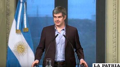Marcos Peña, jefe de ministros del gabinete de Mauricio Macri /clarin.com