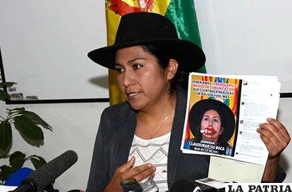 Ministra Paco dice que redes sociales están siendo mal manejadas /lostiempos.com