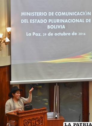 Marianela Paco, ministra de Comunicación