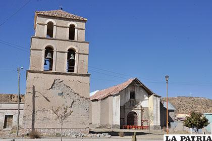 Así se encontraba la iglesia de Paria antes de las tareas de refacción y restauración