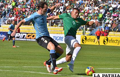 Uruguay venció 2-0 en La Paz en el partido de ida el 08/10/2015