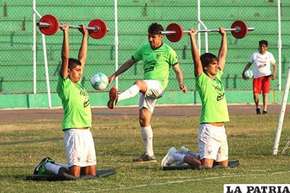 El cuadro boliviano se alistó para este partido en Santa Cruz