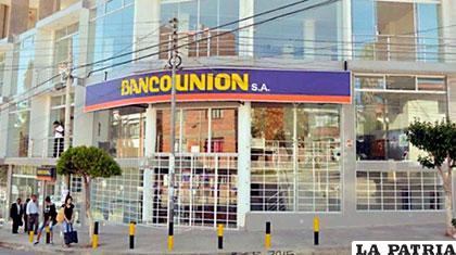 Una de las sucursales del Banco Unión /Ilustrativa