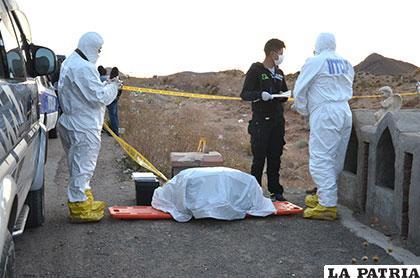 Investigadores desenterraron la maleta en la que estaba el cuerpo de Alina