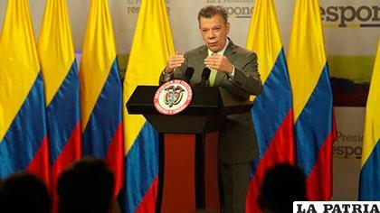 El presidente colombiano, Juan Manuel Santos /telemetro.com