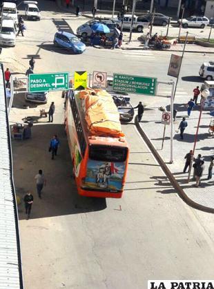 La carga del bus no pudo pasar