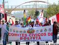 Miembros de comités cívicos del país llegaron a Sucre /APG