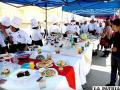 Feria en la que participaron estudiantes de distintas carreras