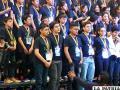 Parte de la delegación orureña en las Olimpiadas Científicas 2017