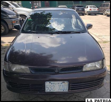 El vehículo secuestrado y que era utilizado por la banda criminal
