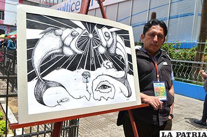 El dibujo es su carta de presentación de Renán /LA PATRIA