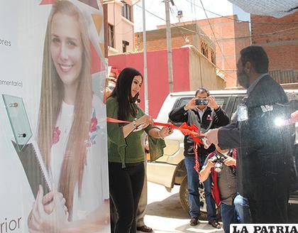 Momento de la inauguración de la oficina en Oruro de la universidad Nuestra Señora de La Paz/Fernando Rodríguez LA PATRIA