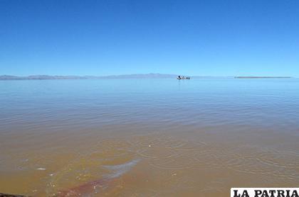 Lago Poopó en estos meses bajó su caudal en relación a julio/ LA PATRIA