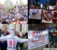 Marchas oficialistas y opositoras tomarán  las calles hoy en el día de la democracia