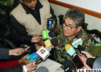 El director nacional de la Felcn ante los medios de comunicación /LA PATRIA