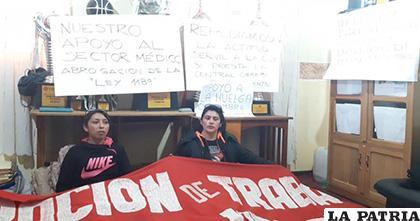 Ayer al mediodía iniciaron el piquete de huelga de hambre /LA PATRIA