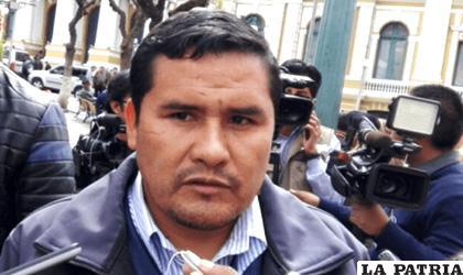 Secretario ejecutivo de la CSUTCB, Jacinto Herrera /ANF