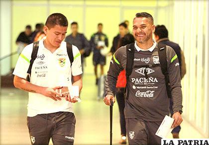 Carlos Saucedo y Daniel Vaca jugadores del combinado boliviano