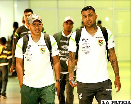 Erwin Saavedra y Adrián Jusino jugadores de la Selección Nacional /APG