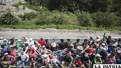 Migrantes anuncian una caravana /El independiente