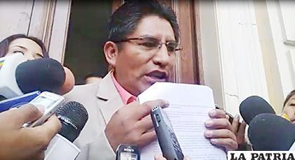 Feliz Patzi, gobernador de La Paz /�?xito Noticias  /ARCHIVO
