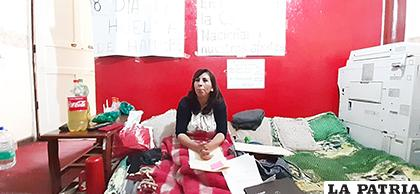 Ayer se sumó a la huelga de hambre /LA PATRIA