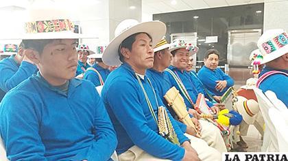 Representantes de Huanuni estuvieron en La Paz para presentar el festival /MCyT
